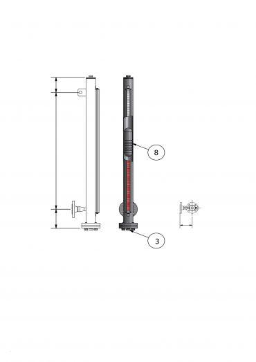 Magnetic Level Gauge VLA10/150