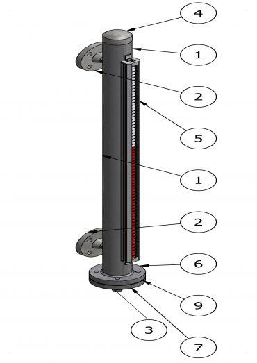 Magnetic Level Gauge VLB10/150