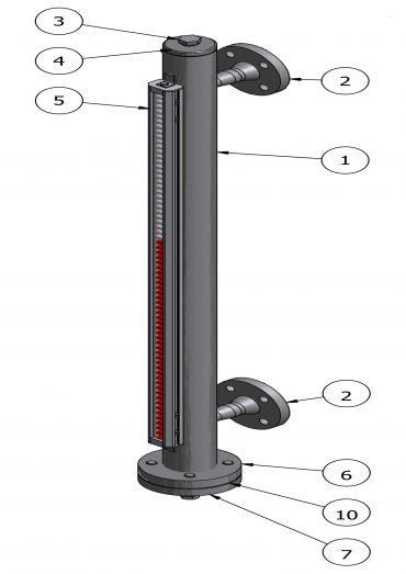 Magnetic Level Gauge VLB16/150B